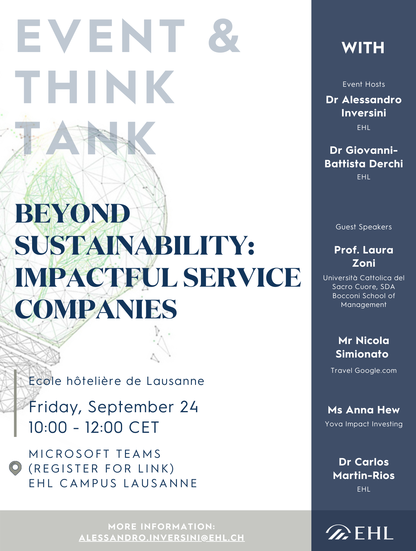 [POSTER] Beyond sustainability Impactful Service Companies