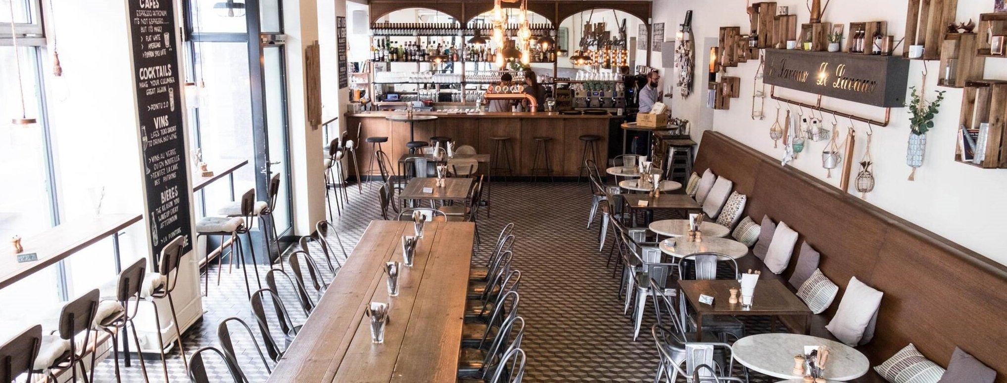 tables inside the restaurant