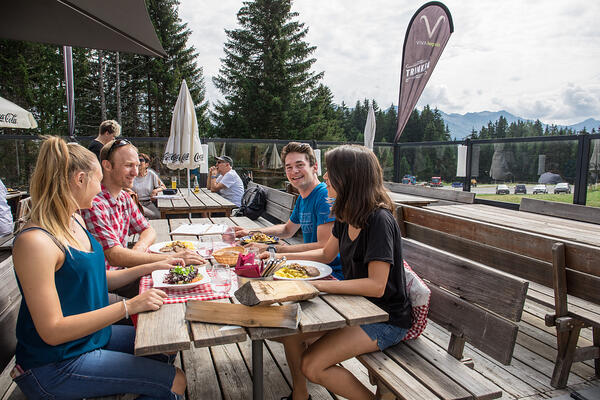 Enjoy your meal at the mountain restaurant