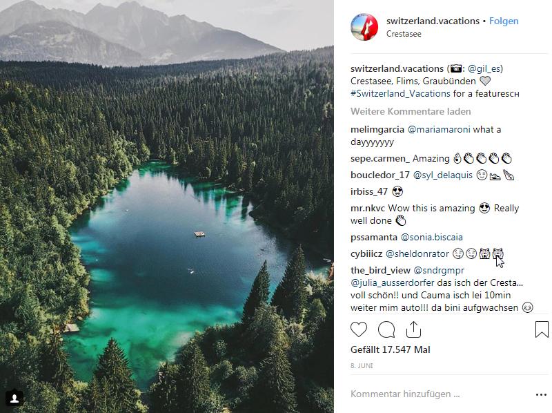 Instagram-Crestasee-Graubunden