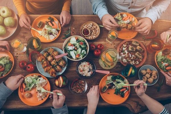 Variety of food tastings