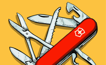 Illustration of a swiss army knife